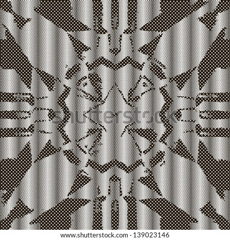 Seamless patterned texture in the form of square tiles