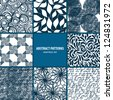 Seamless patterns collection - stock vector