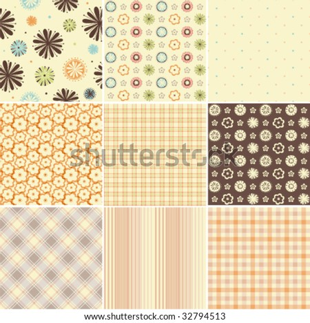 Seamless patterns. Easy to use.