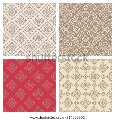 Seamless patterns in retro - stock vector