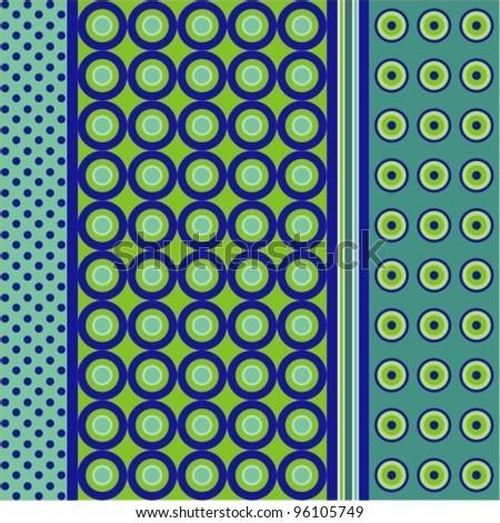 Seamless patterns. Polka dots set - stock vector