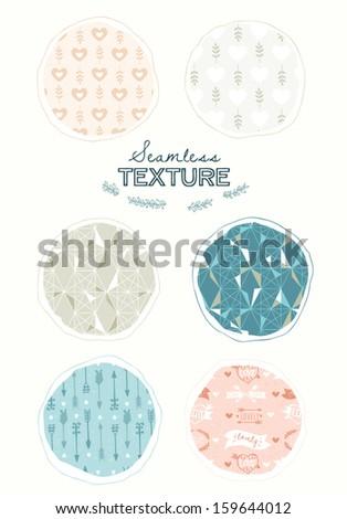 Seamless patterns set - stock vector