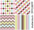seamless patterns with fabric texture - stock