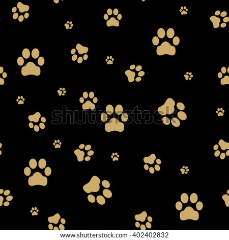Seamless paw, web icon. vector design. seamless footprint wallpaper - stock vector