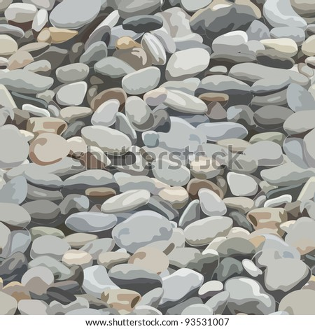 Seamless pebbles background for design and decorate. - stock vector