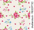 Seamless peony wallpaper pattern. Vector background - stock photo