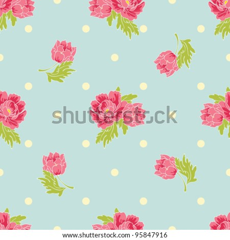 Seamless Peony Wallpaper Pattern Vector Background