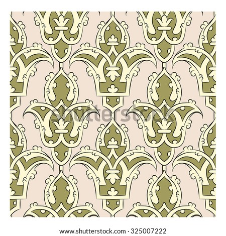Seamless Persian pattern - beige - stock vector