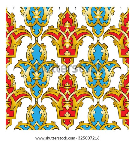 Seamless Persian pattern - golden