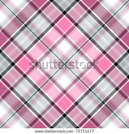 Seamless pink-gray-white cross gentle pattern (vector EPS 10) - stock vector