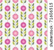 Seamless pink spring or summer flowers pattern. Floral background. - stock vector