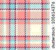 Seamless plaid fabric pattern background. Vector illustration - stock vector