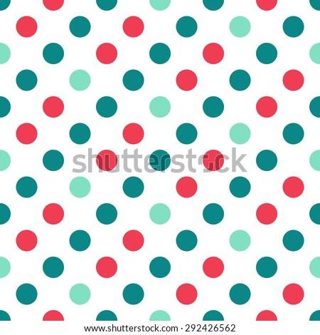 seamless Polka dot pattern background - stock vector