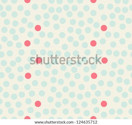 Seamless polka dot pattern background with retro texture