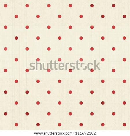 seamless polka dot pattern on textured fabric - stock vector