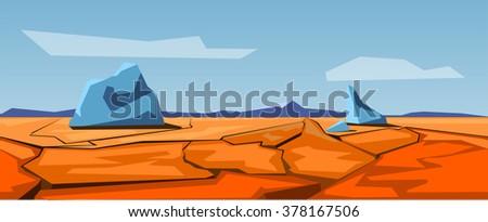 Seamless prairie landscape, nature unending background,  - stock vector