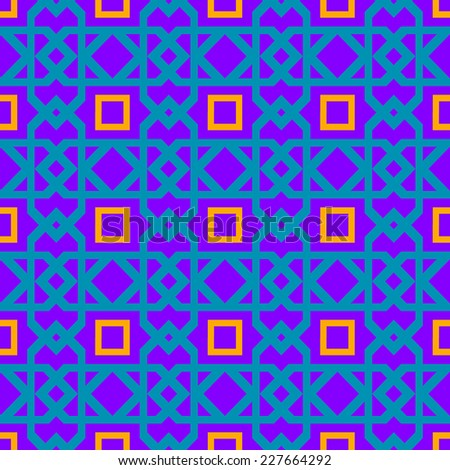 Seamless purple geometric pattern - stock vector