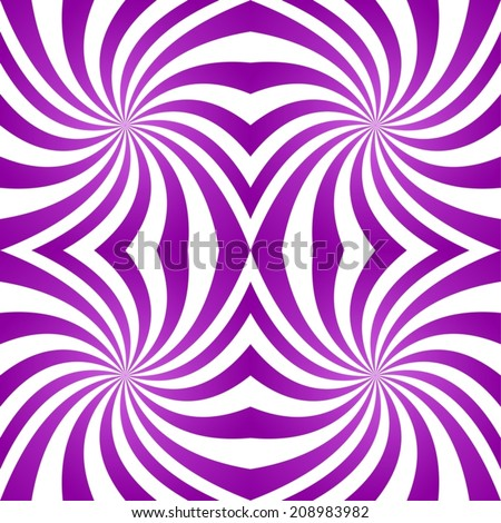 Seamless purple twirl pattern background - vector version - stock vector