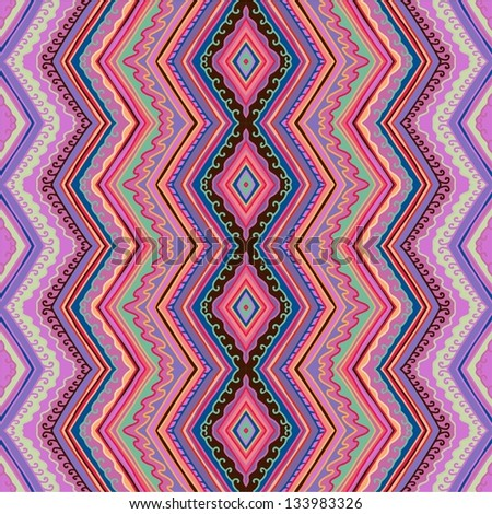 seamless purple zigzag pattern - stock vector