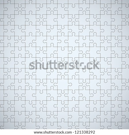 Seamless puzzle texture. EPS10 vector. - stock vector