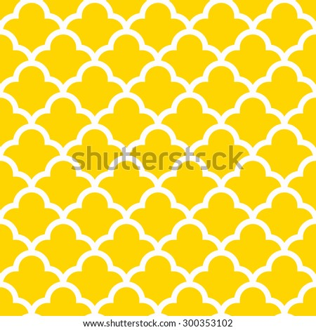 seamless quatrefoil wave pattern. - stock vector