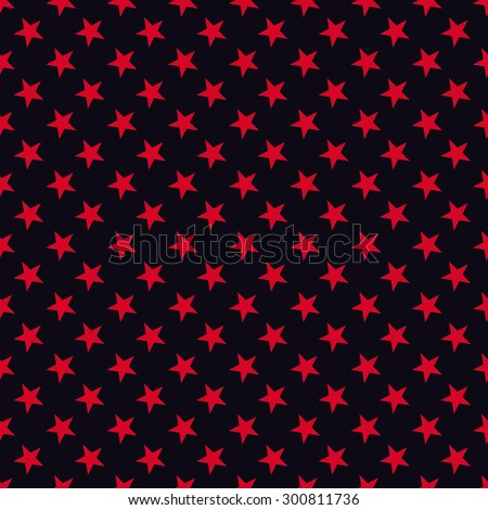 Seamless red and black stars pattern vector