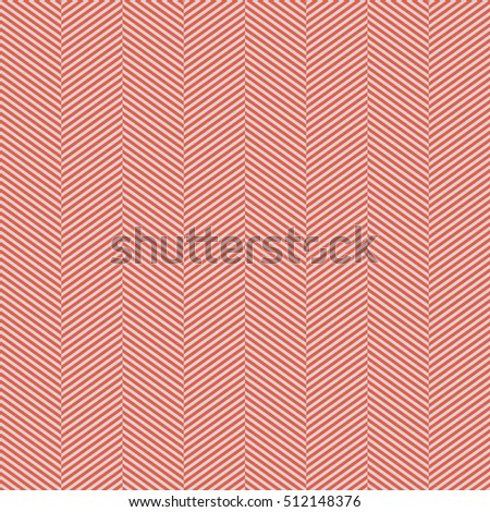 Seamless red and gray slim perfect op art herringbone pattern vector