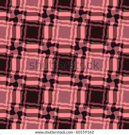 Seamless red tile plaid pattern - stock vector