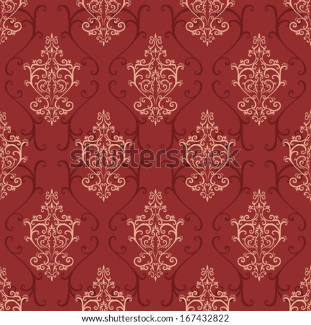 Seamless red vintage pattern