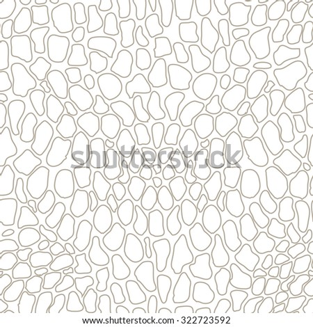 Seamless reptile skin vector pattern. White texture. Backgrounds & textures shop. - stock vector