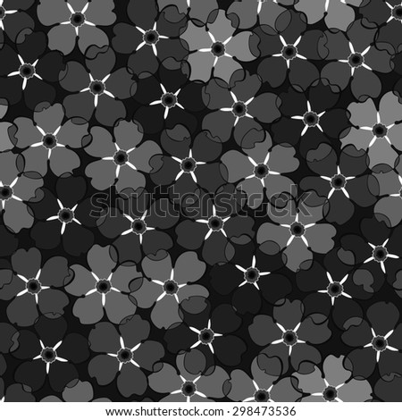 Seamless retro background in black. - stock vector