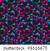Seamless Retro Geometric Pattern - stock vector