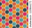 Seamless retro geometric pattern. EPS10 vector texture. - stock photo