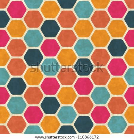Seamless retro geometric pattern. EPS10 vector texture. - stock vector