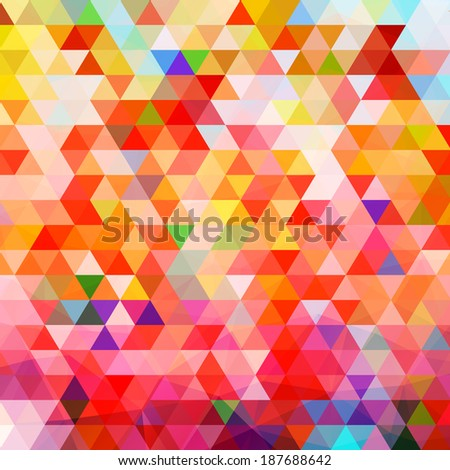 Seamless Retro Geometric Pattern. Texture with triangles, rhombus.Mosaic. Abstract pattern, waves background  - stock vector