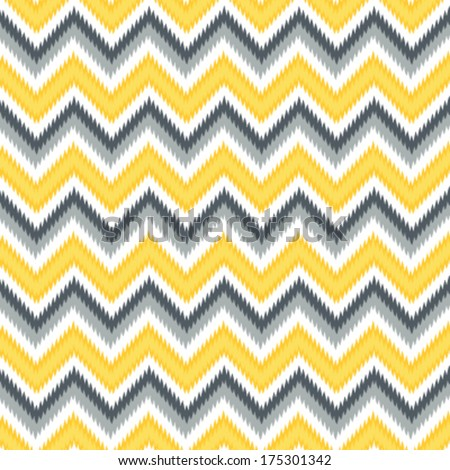 Seamless Retro Modern Chevron Ikat Background Pattern