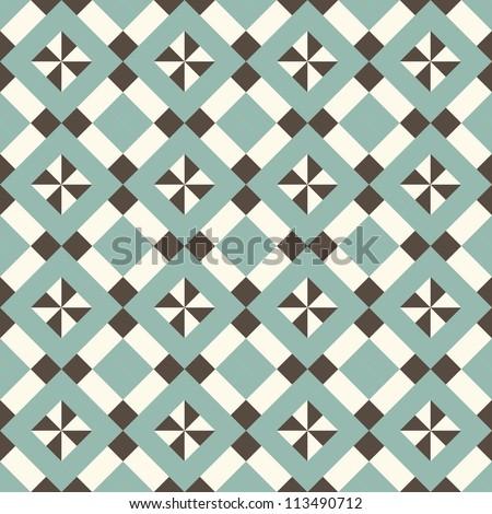 seamless retro pattern - stock vector