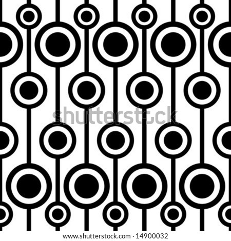 seamless retro pattern - stock vector