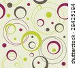 seamless retro pattern with circles and dots, vector illustration - stock photo
