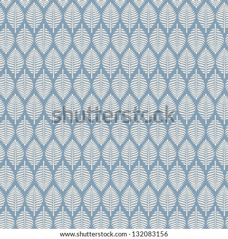 Seamless retro texture with leaves. Endless elegant pattern, template for design and decoration - stock vector