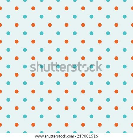 seamless retro vintage Polka dot background. - stock vector