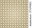 Seamless retro wallpaper - stock vector