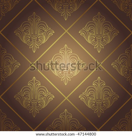 Seamless retro wallpaper. Vector illustration - stock vector