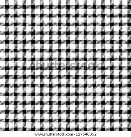 Seamless retro white-black square tablecloth - stock vector