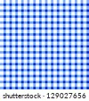 Seamless retro white-blue square tablecloth - stock photo