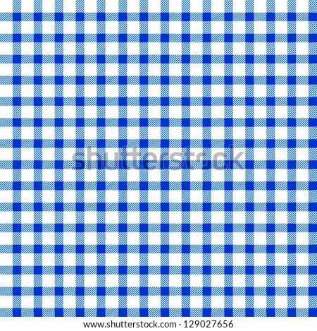 Seamless retro white-blue square tablecloth - stock vector