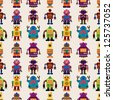 seamless Robot pattern,cartoon vector illustration - stock vector