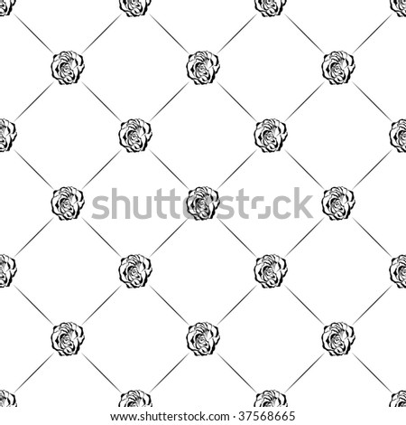 Seamless rose background. Vector illustration. - stock vector