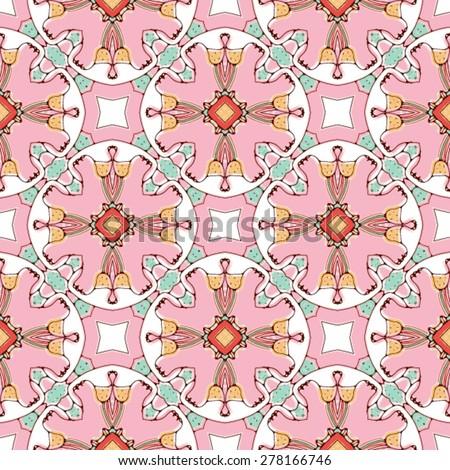 Seamless rose vector pattern - stock vector