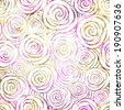 Seamless Roses Pattern. Vector, EPS 10 - stock vector